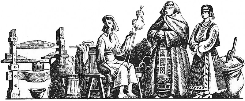 Румунська народна казка про дідову дочку й бабину дочку