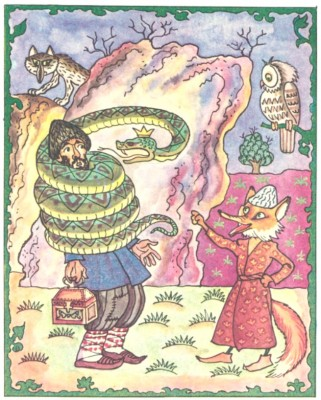 Бідняк Гамід і змій (азербайджанська казка)-2