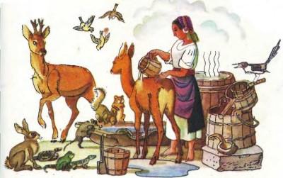 Румунська народна казка про дідову дочку й бабину дочку-3