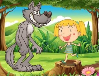 Дівчинка і вовк (угорська казка)