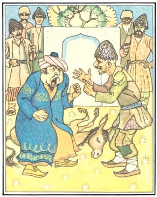 Казка про лисого й казі (азербайджанська казка)-4