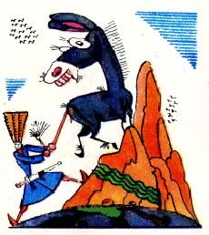 Клопіт із віслюком (чеченська казка)