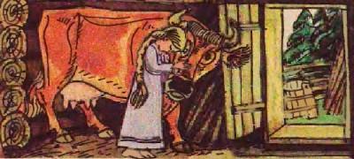 Корова-пряля (литовська казка)