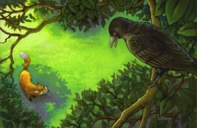 Лисиця, шпак і ворона (латиська народна казка)
