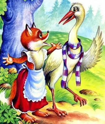 Лисиця та журавель (інгуська казка