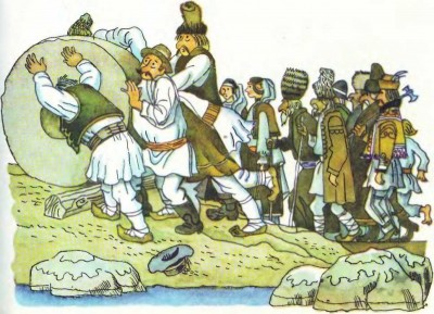 Румунська народна казка про пригоди Пекале у рідному селі-4