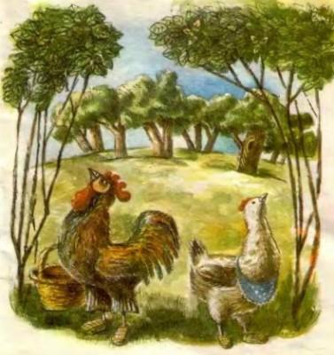 Півник та курочка (литовська казка)