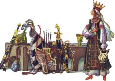 Румунська народна казка про Прислю-богатиря і золоті яблука-3