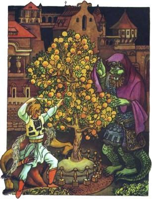 Румунська народна казка про Прислю-богатиря і золоті яблука