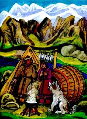 Торко-чачак - Шовкова китичка (алтайська казка)