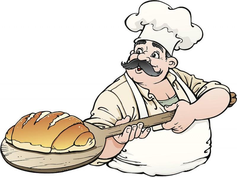 рисунок пекарь с хлебом есть каталоги
