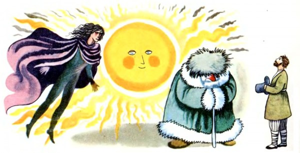Сонце, Мороз та Вітер (латиська народна казка)
