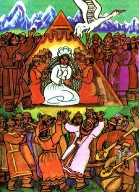 Алип-Манаш і Кюмюжек-Аару (алтайська казка)