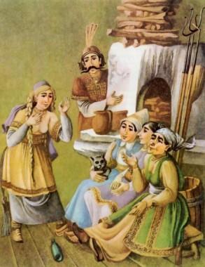 Бабина дівчина золота Золотинка (македонська казка)