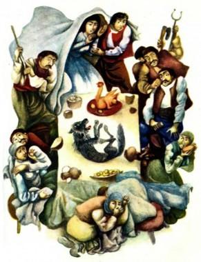 Битий небиту несе (болгарська казка)