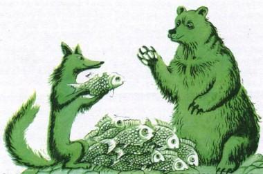 Ведмідь та лисиця (фінська казка)