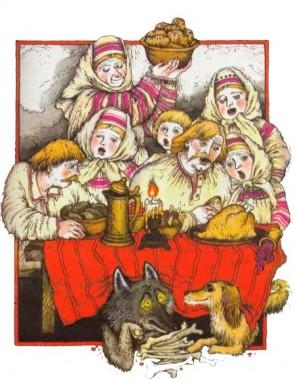 Вовк та собака (білоруська казка)