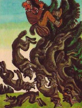 Вовк і кравець (литовська казка)