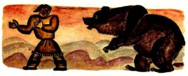 Ворон і вовки (коряцька казка)