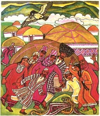 Гадюка та ворона (туркменська казка)