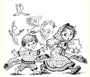 Гуси-лебеді (російська казка)