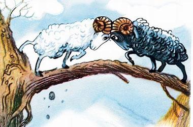 Два барани і лисиця (бурятська казка)