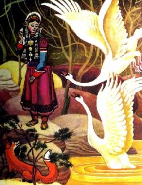 Дівчина Хонхінур та лисиця (бурятська казка)