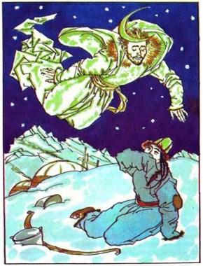 Дівчина на місяці (киргизька казка)