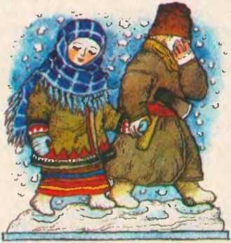 Дідова дочка і бабина дочка в хатці на курячій ніжці (білоруська казка)