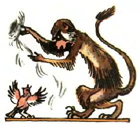 Жайворонок і мавпа (бурятська казка)