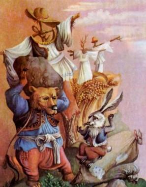 Заєць і ведмідь (словенська казка)
