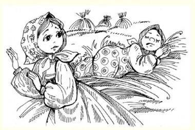 Крихітка-Хіврунька (російська казка)