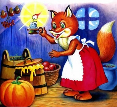 Лисиця на ночівлі (естонська казка)