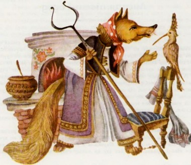 Лисиця, півень і одуд (македонська казка)-2
