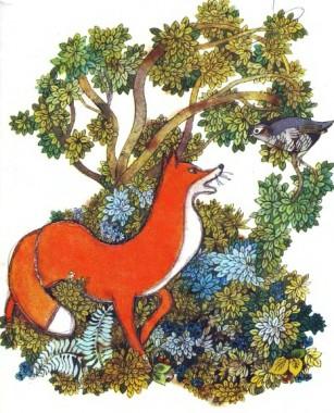 Лисиця і куріпка (французька казка)