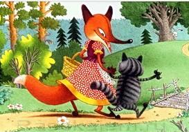 Лисиця і кіт (українська народна казка)