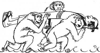 Мавпи й божество Дзідзо (японська казка)
