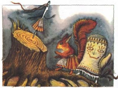 Про Білку, Рукавичку й Голку (фінська казка)