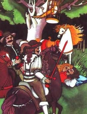 Птах-Вогнекрил і лисичка Рудий хвіст (чеська казка)