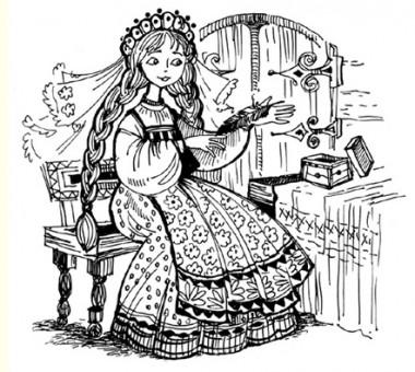 Пір'їнка Фініста – ясного сокола (російська казка)