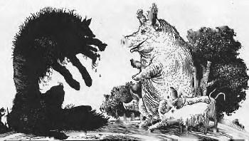 Свиня і вовк (іспанська казка)
