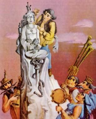 Скам'янілі королівни (словенська казка)