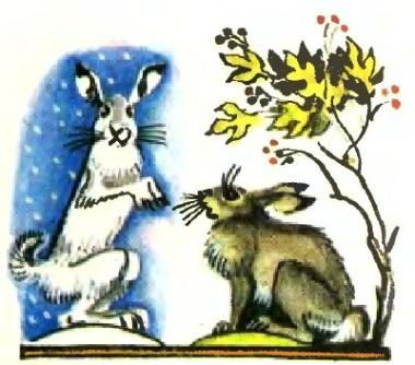 Сніг і заєць (бурятська казка)