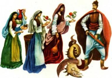 Троє братів і золота яблуня (болгарська казка)