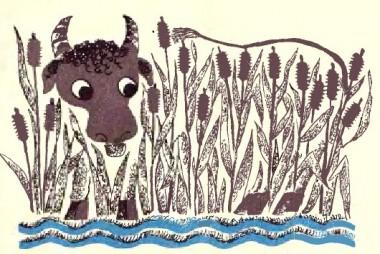 Чорний бик і вовки (естонська казка)