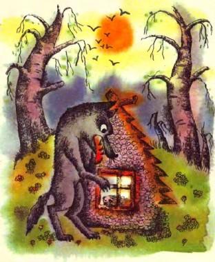Ягнятко і вовк (естонська казка)