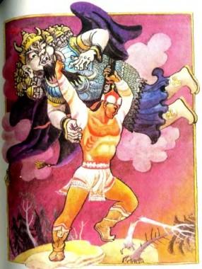 Як Алтан-Шагай-мерген та його син перемогли злих мангатхаїв (бурятська казка)