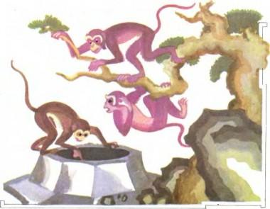 Як мавпи діставали з криниці місяць (китайська казка)