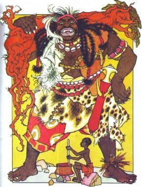 Як народилися блискавки (африканська казка)