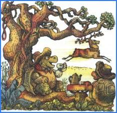 Як олень і черепаха бігали наввипередки (кубинська казка)